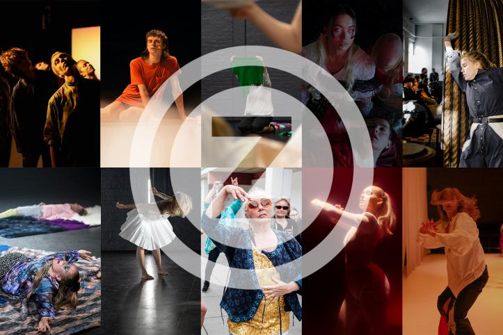 a collage photos of performance photos from autumn 2020